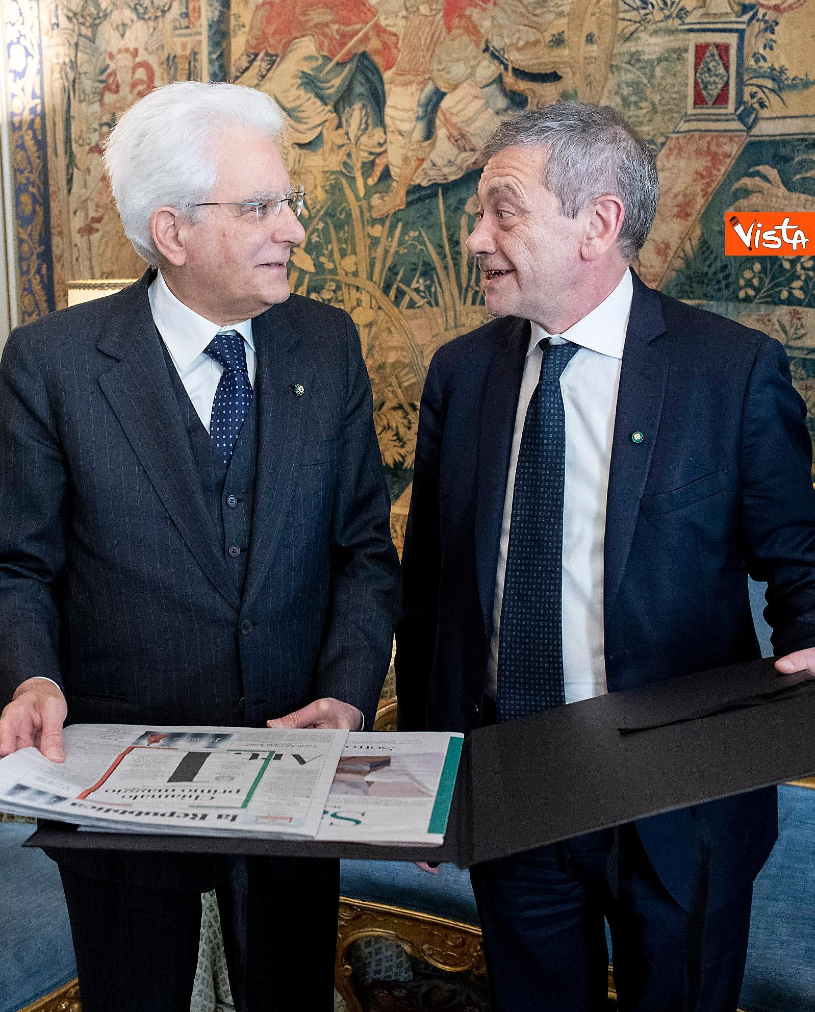 Mattarella incontra i vertici del quotidiano 'La Repubblica'_05