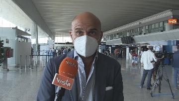 """8 - Da Fiumicino i voli sperimentali Roma-Milano """"Covid free"""" , test obbligatorio per imbarco. Le foto"""
