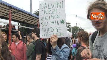 12 - Million marijuana march, il corteo per la legalizzazione della cannabis per le strade di Roma
