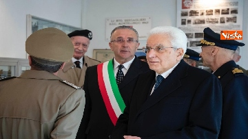 1 - Mattarella visita il museo del Sacrario Militare al 75esimo anniversario della battaglia di Monte Lungo