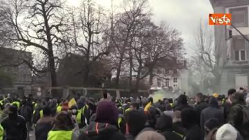 11 - I Gilet gialli protestano a Bruxelles