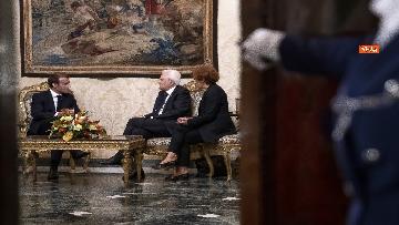 4 - Italia-Francia, Mattarella riceve Macron al Quirinale