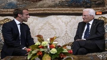 3 - Italia-Francia, Mattarella riceve Macron al Quirinale