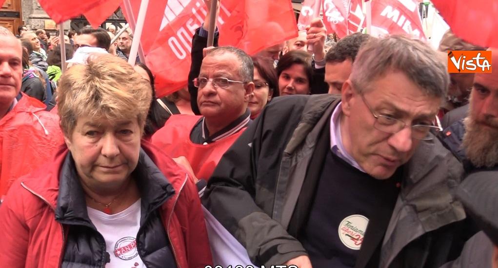 Landini e Camusso alla manifestazione 25 Aprile a Milano