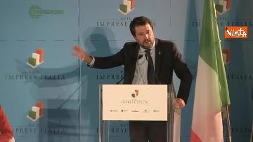 4 - Conte e Salvini ad assemblea Rete Imprese Italia immagini