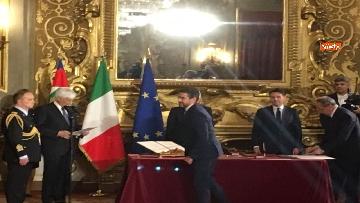 6 - Il giuramento di Fraccaro, il Ministro dei Rapporti con il Parlamento