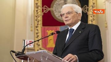 15 - Mattarella all'università di Sassari per commemorare Cossiga, le immagini
