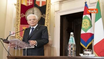 14 - Mattarella all'università di Sassari per commemorare Cossiga, le immagini