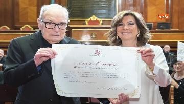 4 - Ennio Morricone premiato in Senato dalla presidente Casellati
