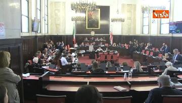 2 - Palazzo Marino, immagini seduta Consiglio Comunale Milano