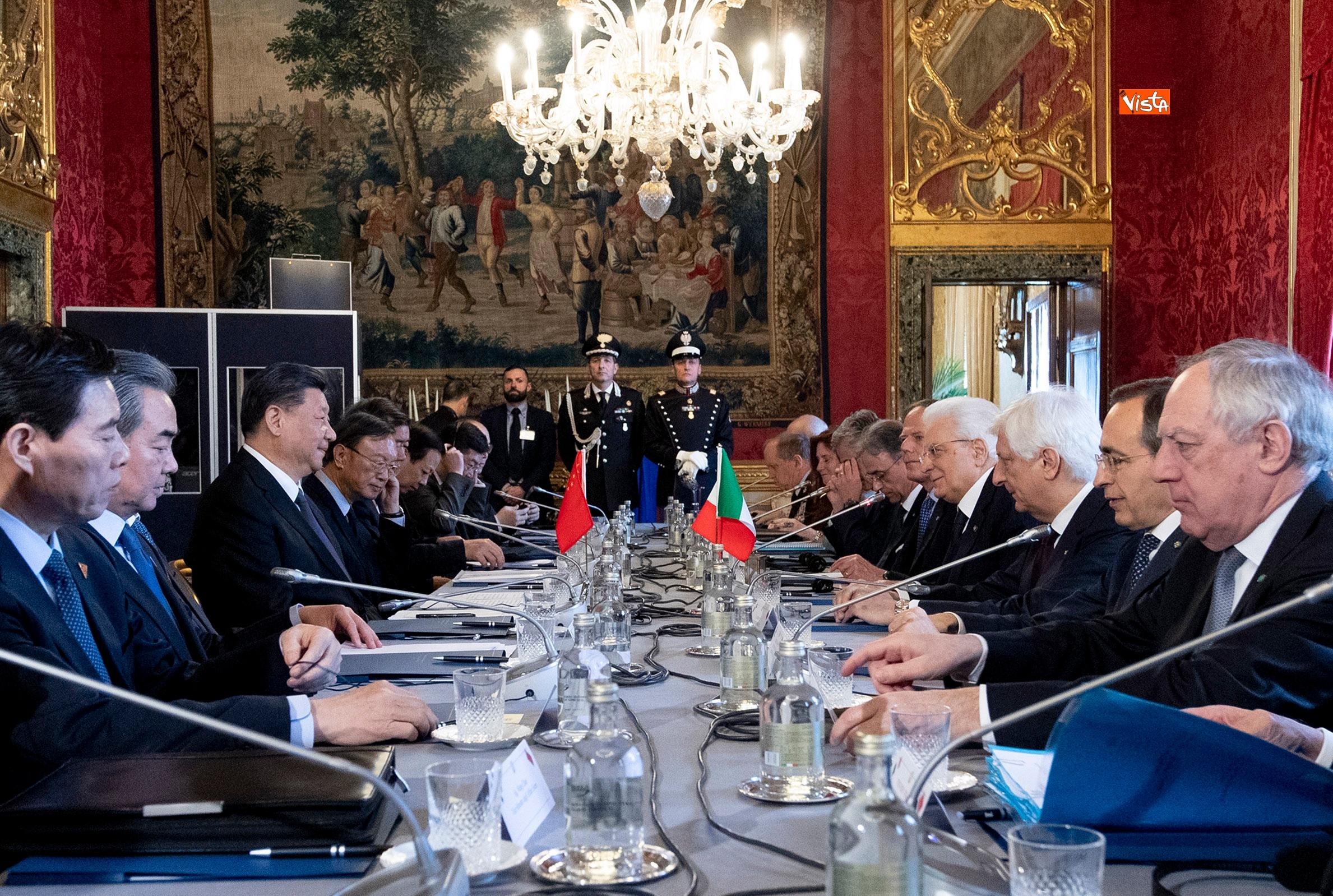 La visita del presidente della Repubblica cinese al Quirinale