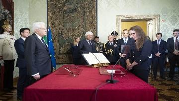 1 - Governo, Locatelli giura davanti a Mattarella