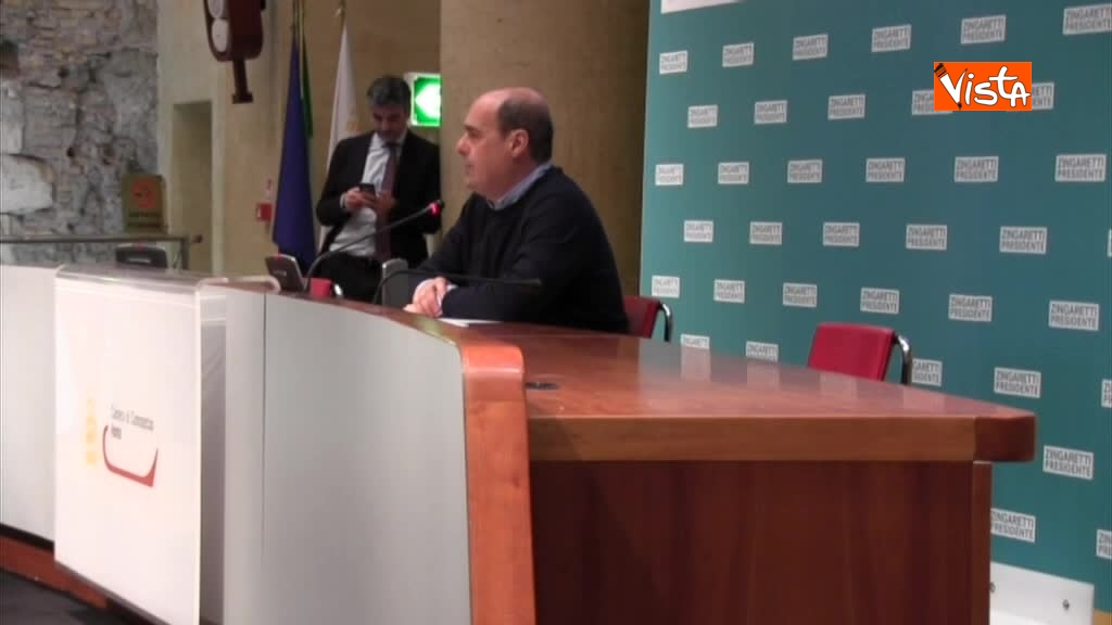 06-03-18 Zingaretti riconfermato presidente Regione Lazio in conferenza stampa a Roma, immagini 01_187627339917058697203
