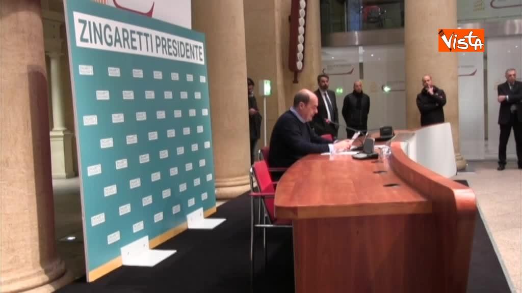 06-03-18 Zingaretti riconfermato presidente Regione Lazio in conferenza stampa a Roma, immagini 01_185831371225400918525