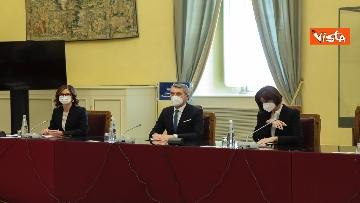 3 - Berlusconi e la delegazione di Forza Italia arrivano a Montecitorio per le consultazioni con Draghi