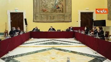 2 - Berlusconi e la delegazione di Forza Italia arrivano a Montecitorio per le consultazioni con Draghi