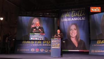 8 - Salvini, Meloni e Berlusconi chiudono la campagna elettorale in Emilia-Romagna a Ravenna