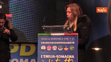 5 - Salvini, Meloni e Berlusconi chiudono la campagna elettorale in Emilia-Romagna a Ravenna