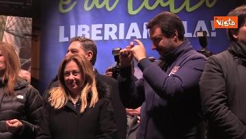 15 - Salvini, Meloni e Berlusconi chiudono la campagna elettorale in Emilia-Romagna a Ravenna