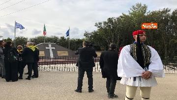 1 - Preparativi a Cefalonia per accogliere Mattarella al monumento ai caduti italiani della brigata Aqui