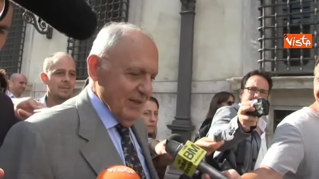 03-09-18 Ministro Affari Europei Paolo Savona lascia Palazzo Chigi dopo il Consiglio dei Ministri_07