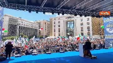 7 - Europee, Meloni chiude campagna elettorale a Napoli, il comizio in piazza Matteotti