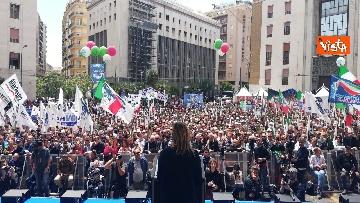 3 - Europee, Meloni chiude campagna elettorale a Napoli, il comizio in piazza Matteotti
