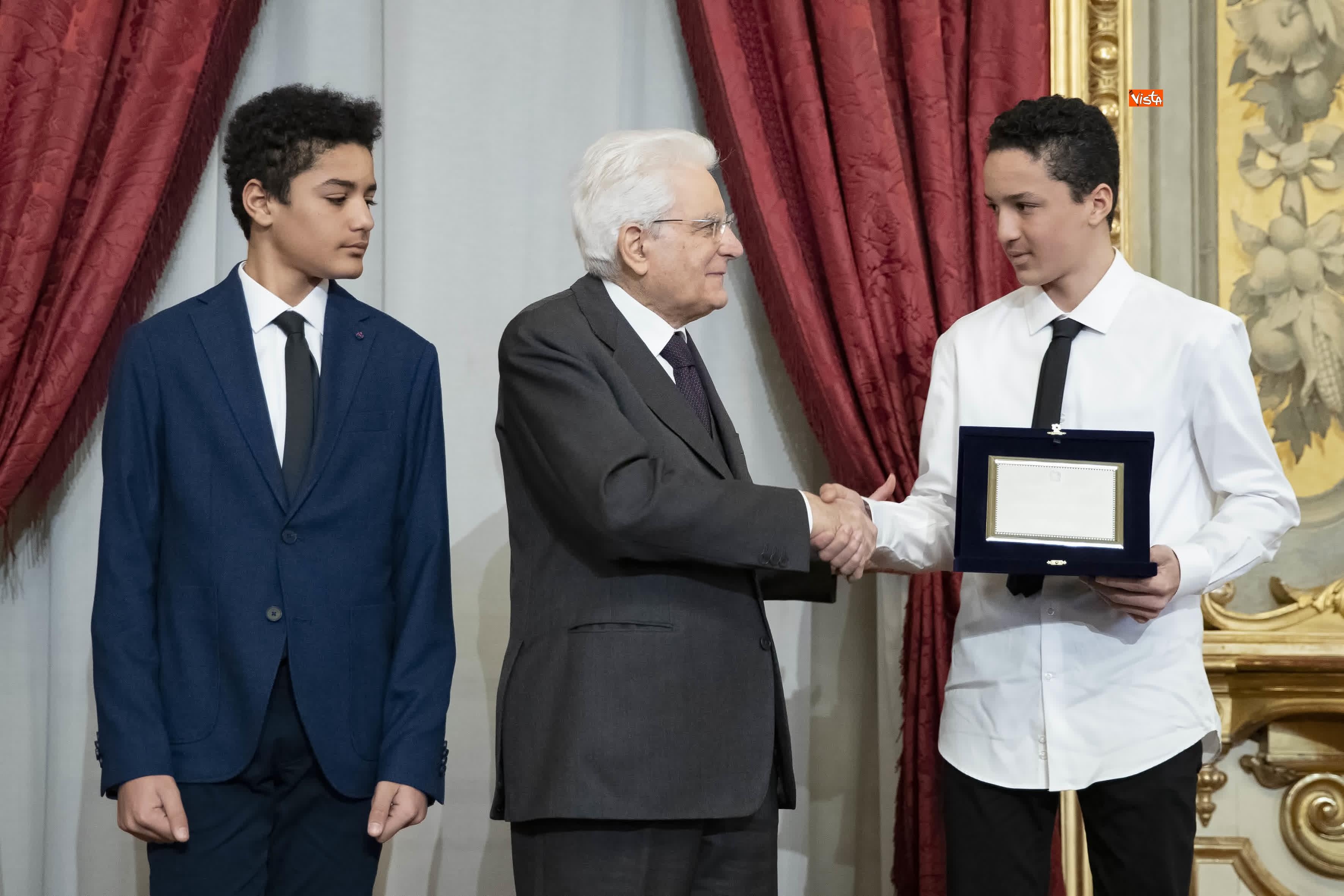 13-03-19 Mattarella consegna gli Attestati d Onore ai nuovi Alfieri della Repubblica, le immagini_27
