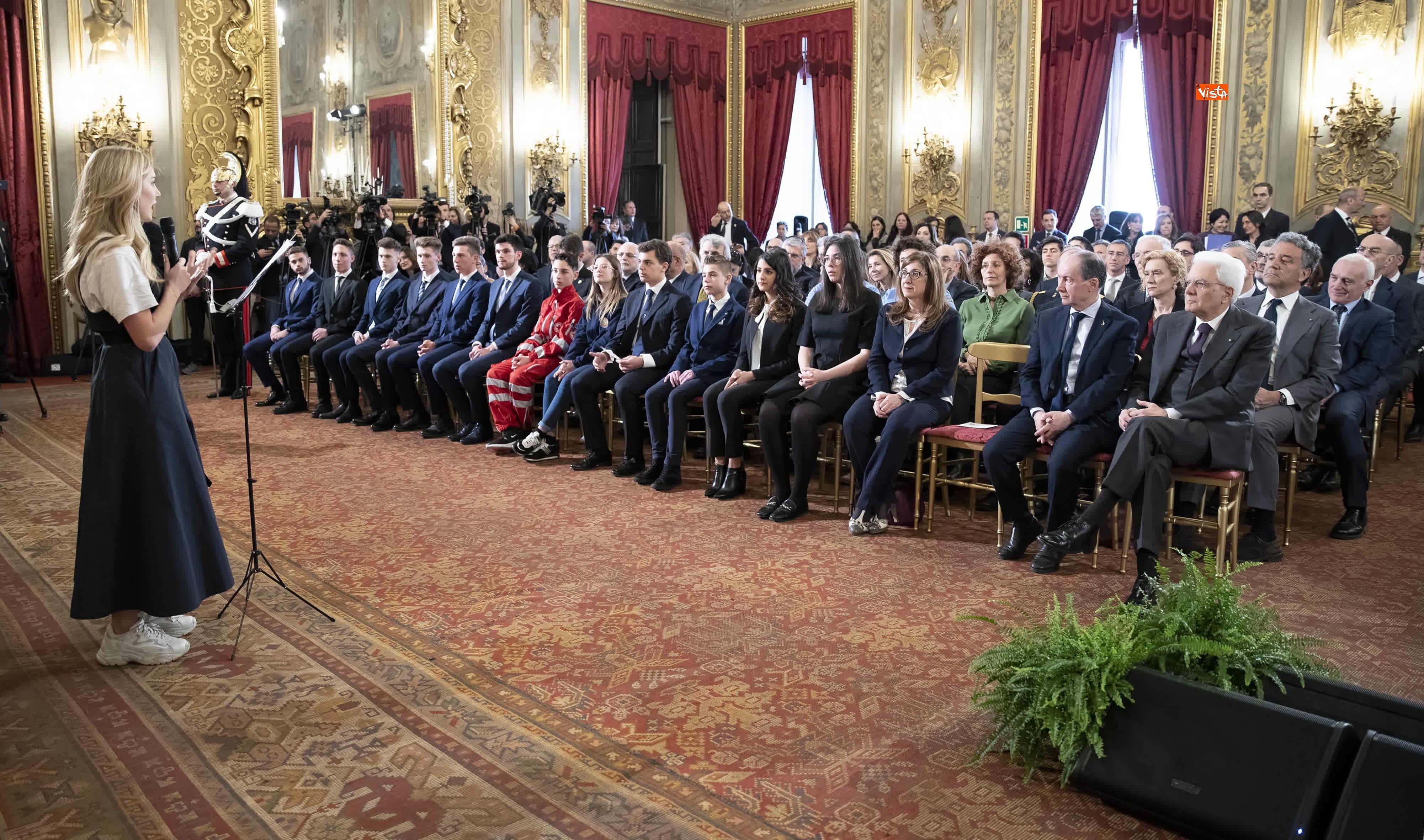 13-03-19 Mattarella consegna gli Attestati d Onore ai nuovi Alfieri della Repubblica, le immagini_03