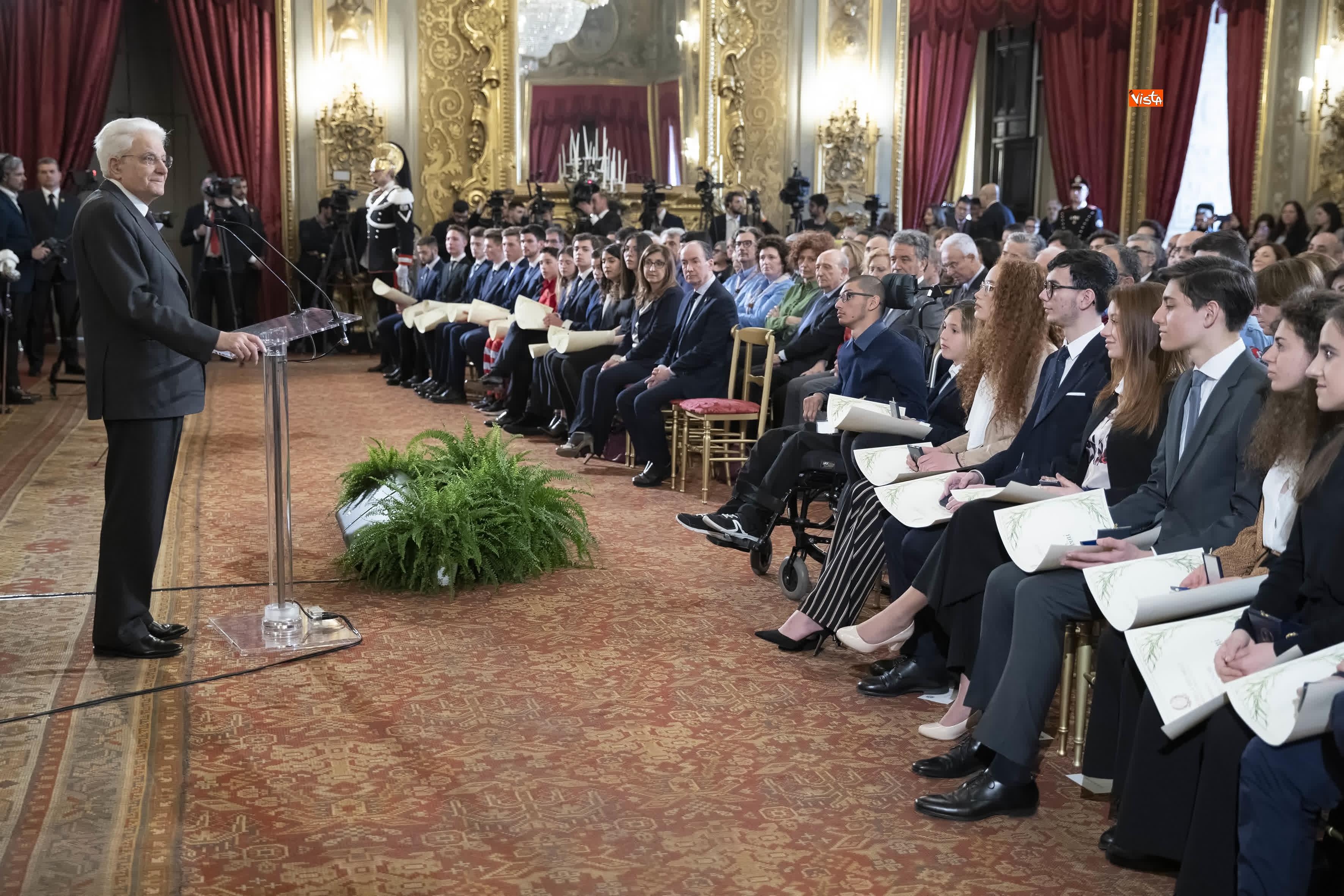 13-03-19 Mattarella consegna gli Attestati d Onore ai nuovi Alfieri della Repubblica, le immagini_28
