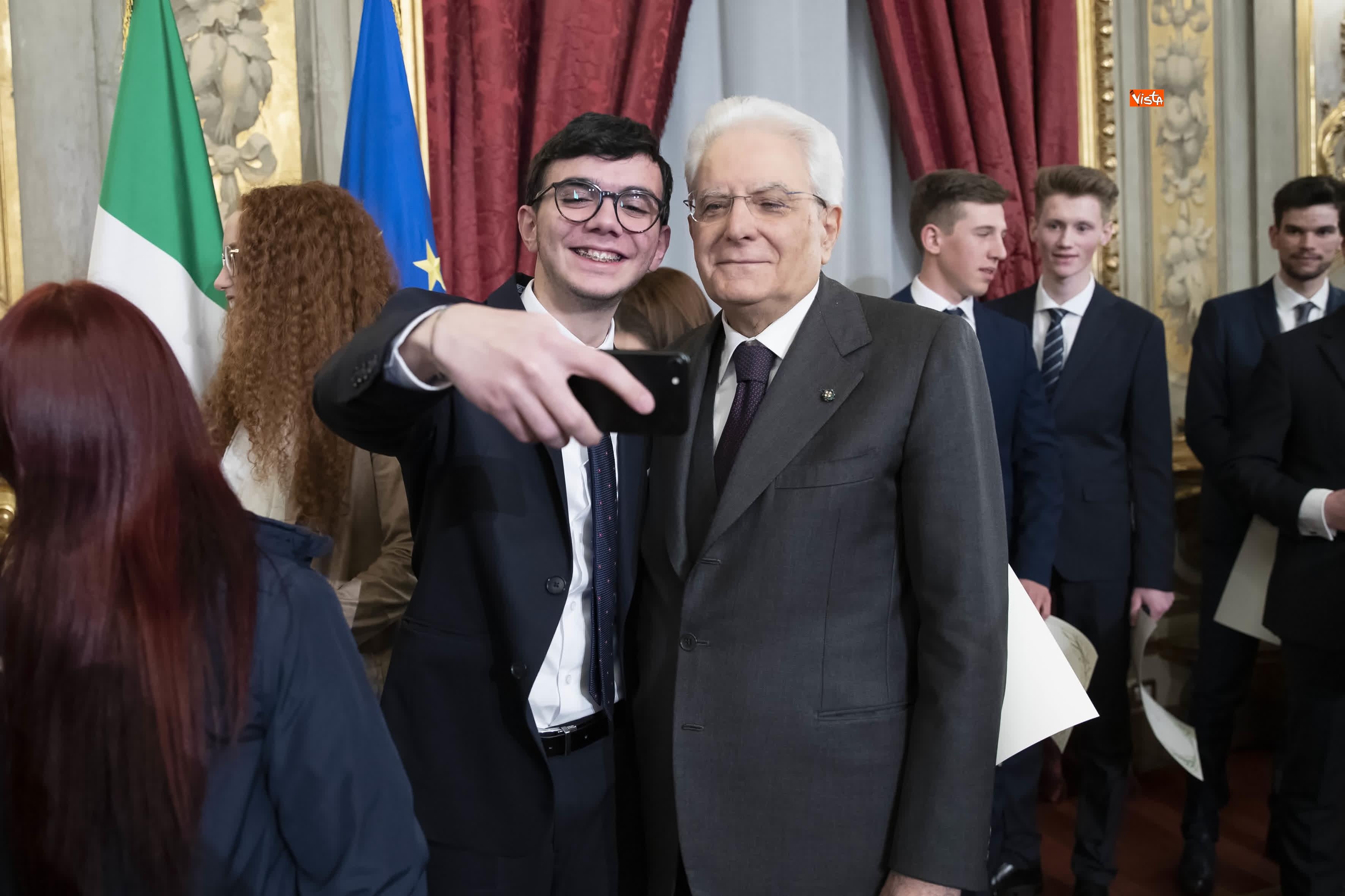 13-03-19 Mattarella consegna gli Attestati d Onore ai nuovi Alfieri della Repubblica, le immagini_29