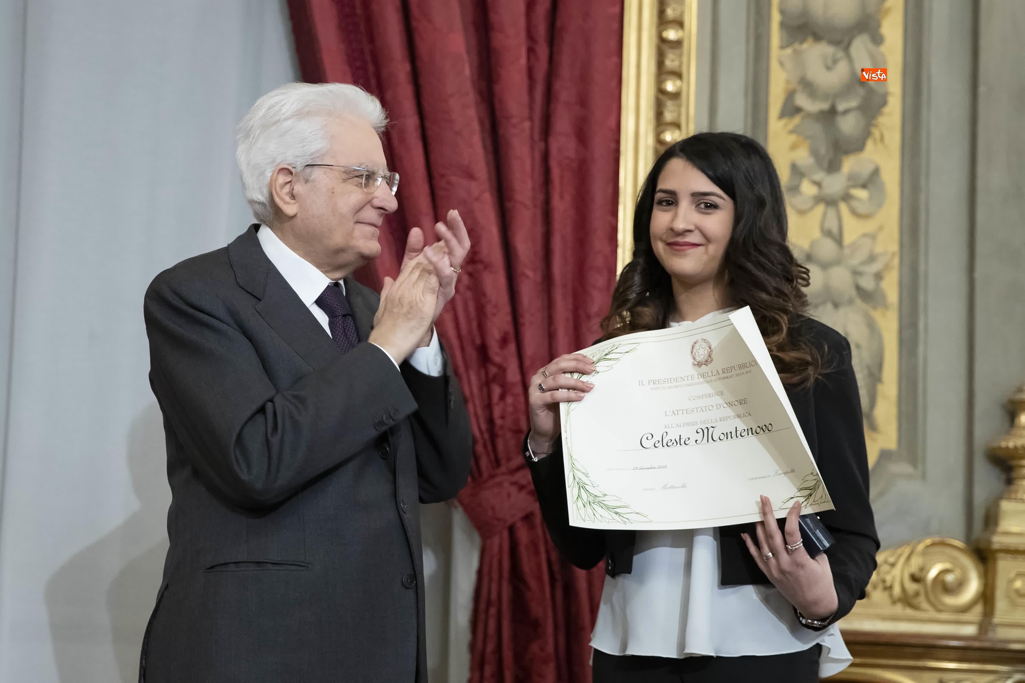 13-03-19 Mattarella consegna gli Attestati d Onore ai nuovi Alfieri della Repubblica, le immagini_17