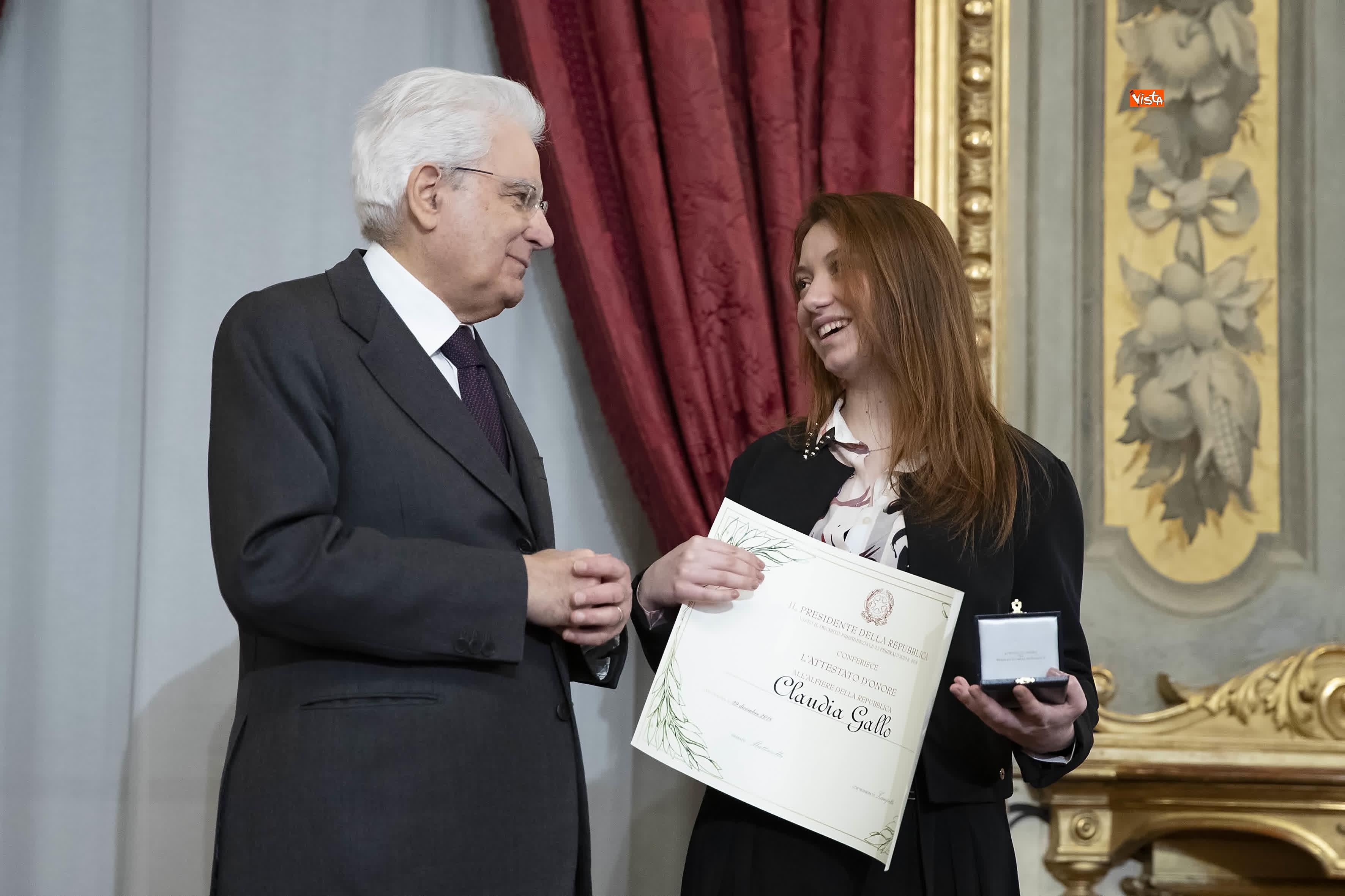 13-03-19 Mattarella consegna gli Attestati d Onore ai nuovi Alfieri della Repubblica, le immagini_13