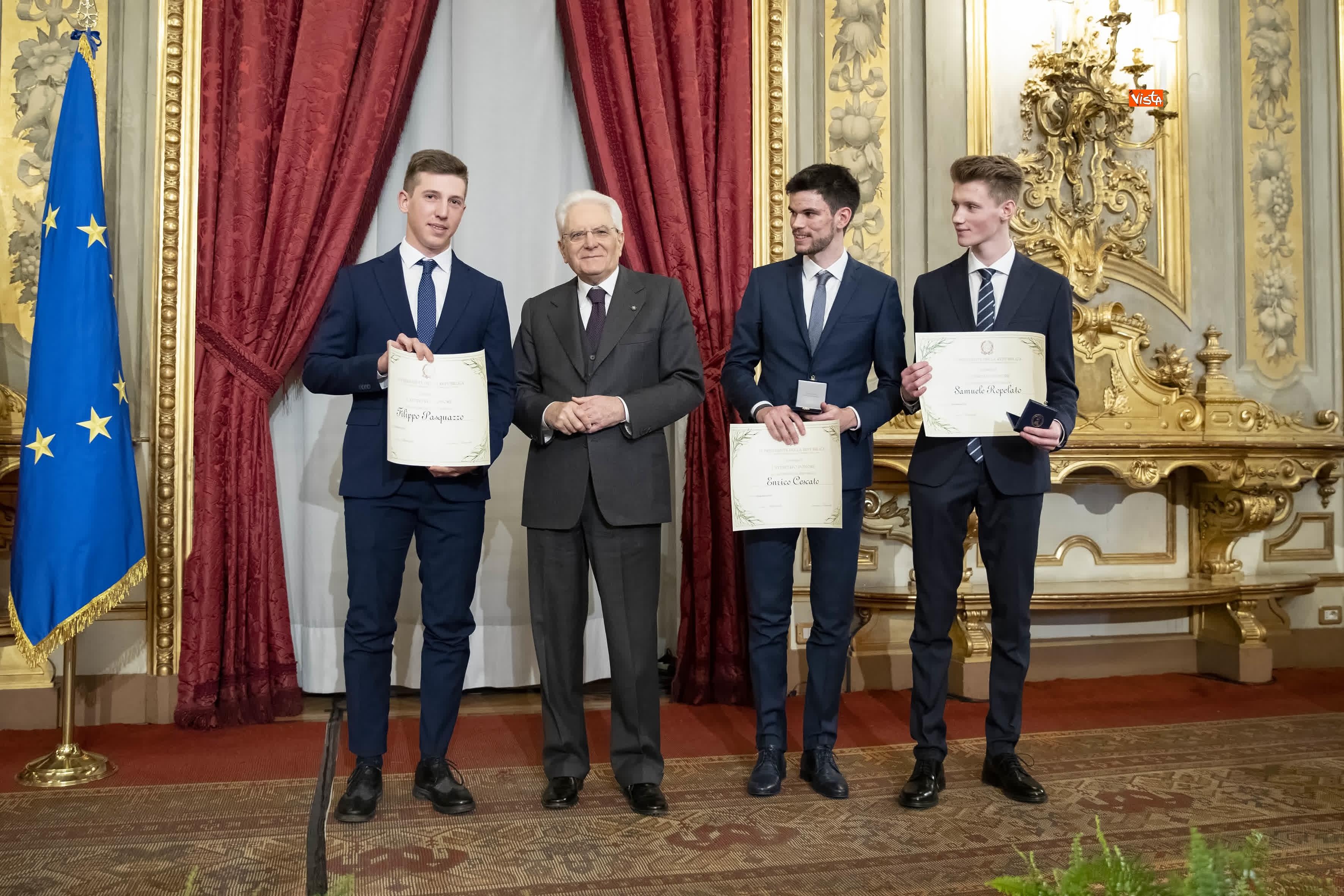 13-03-19 Mattarella consegna gli Attestati d Onore ai nuovi Alfieri della Repubblica, le immagini_22