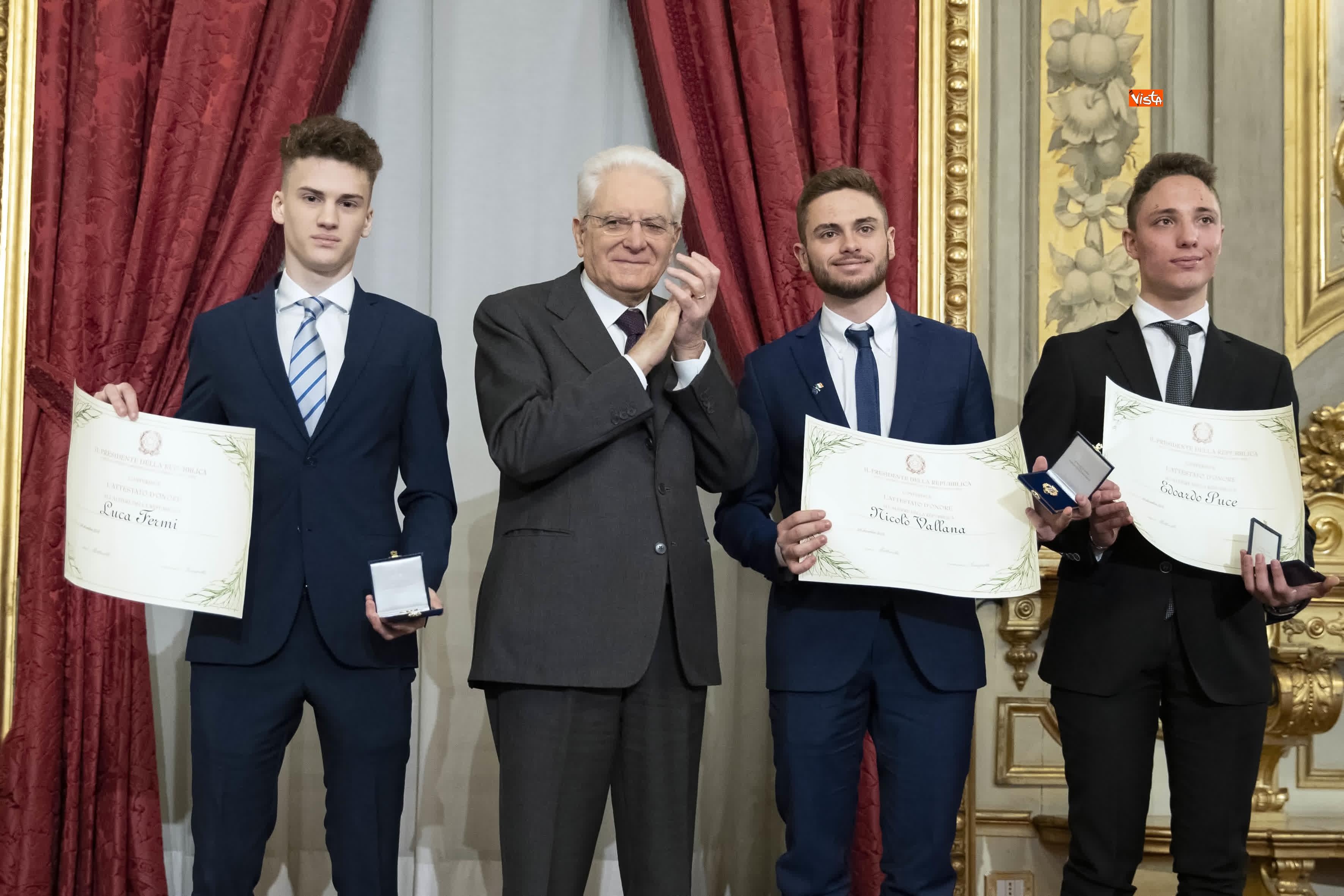 13-03-19 Mattarella consegna gli Attestati d Onore ai nuovi Alfieri della Repubblica, le immagini_23