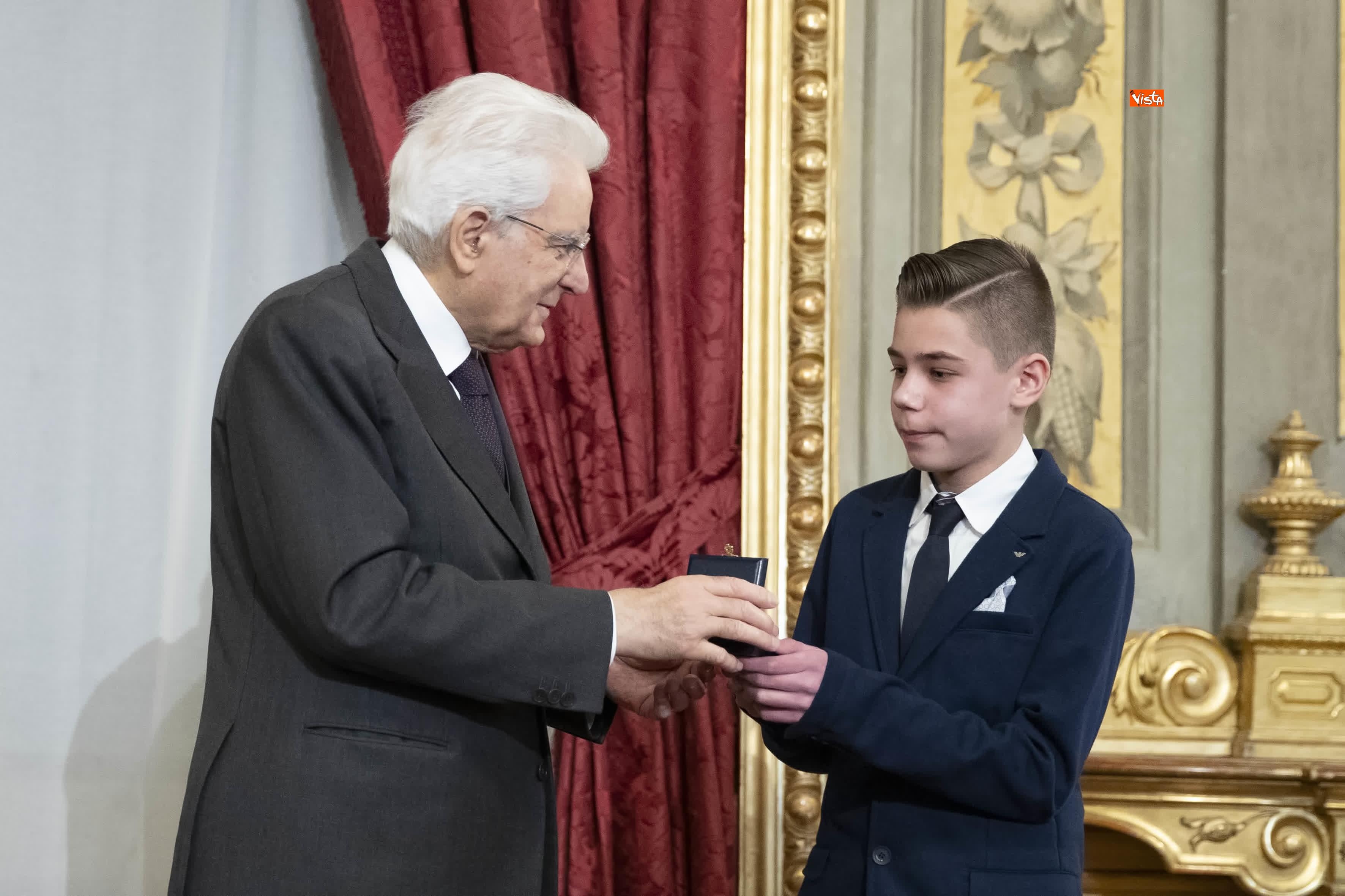 13-03-19 Mattarella consegna gli Attestati d Onore ai nuovi Alfieri della Repubblica, le immagini_18