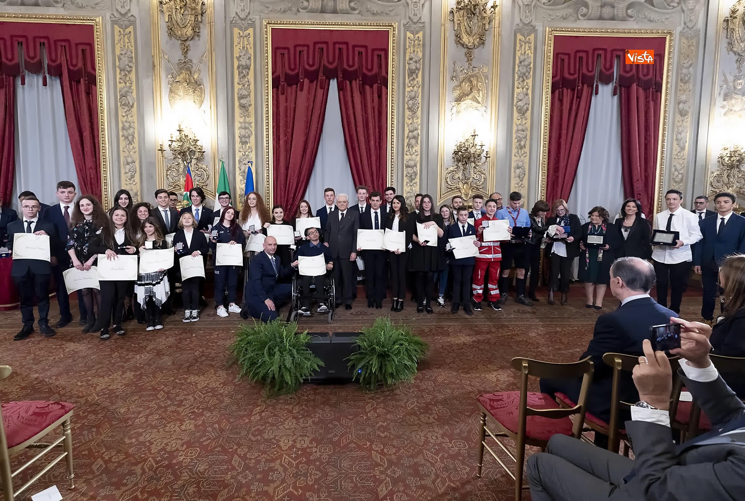 13-03-19 Mattarella consegna gli Attestati d Onore ai nuovi Alfieri della Repubblica, le immagini_31