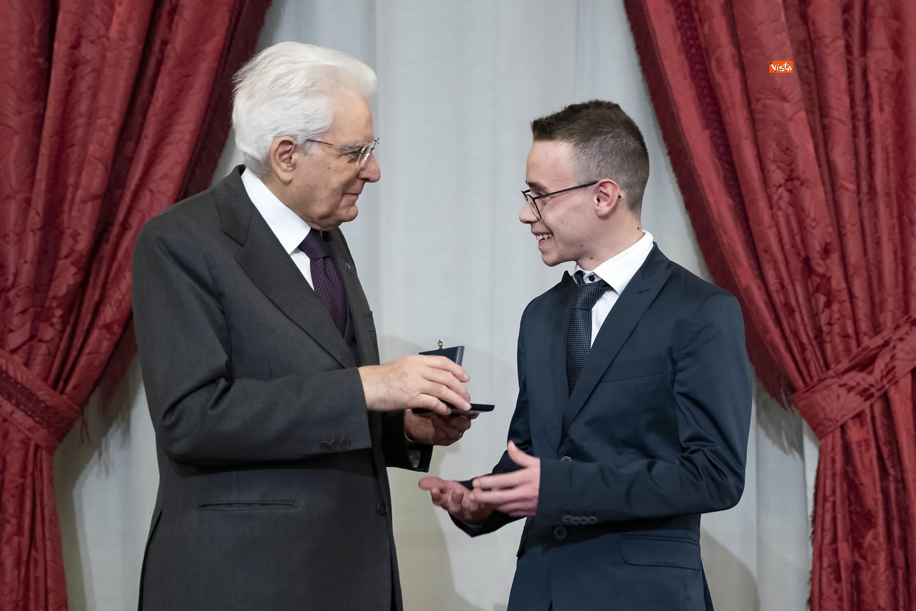 13-03-19 Mattarella consegna gli Attestati d Onore ai nuovi Alfieri della Repubblica, le immagini_12