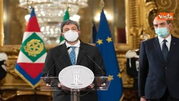 """1 - Consultazioni, Fico: """"Mandato esplorativo per verifica maggioranza con forze precedente governo"""""""