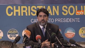 1 - La conferenza stampa del neo presidente della Rwegione Sardegna Solinas