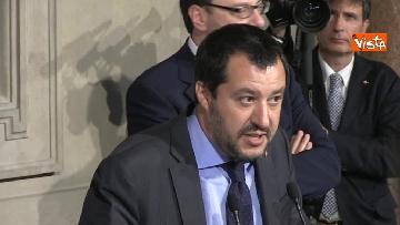 1 - Matteo Salvini dopo le Consultazioni al Quirinale