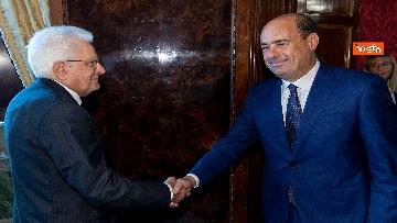 1 - Mattarella accoglie la delegazione del Pd guidata da Zingaretti