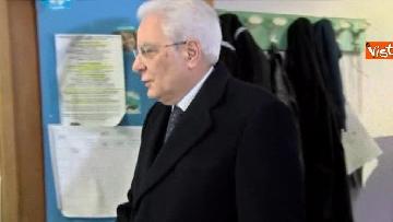 7 - Mattarella a Palermo, il presidente della Repubblica vota nella sua città