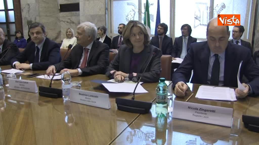 21-03-18 Firma intese per Roma Capitale al Mise con  Franceschini e Zingaretti