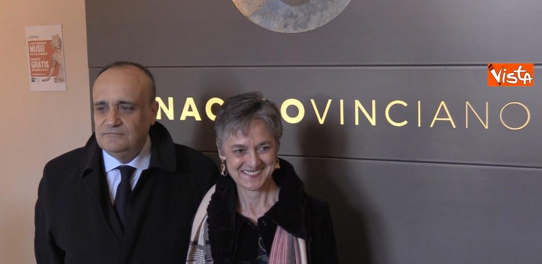 Settimana dei Musei, il ministro Bonisoli al Cenacolo Vinciano con il direttore