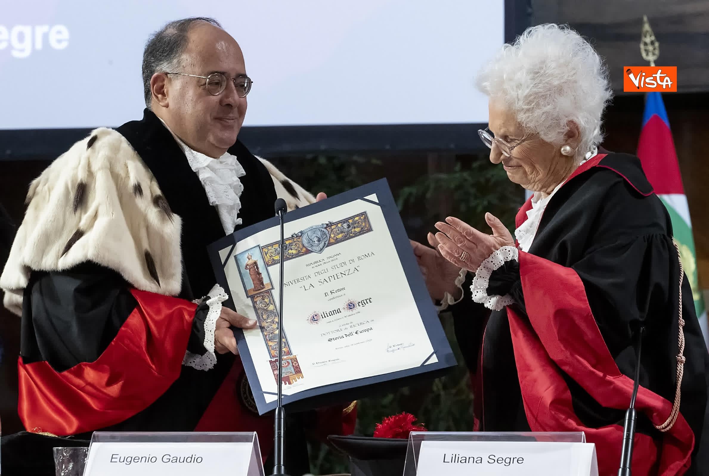 17-02-20 Segre riceve laurea honoris causa dal rettore della Sapienza Gaudio_04