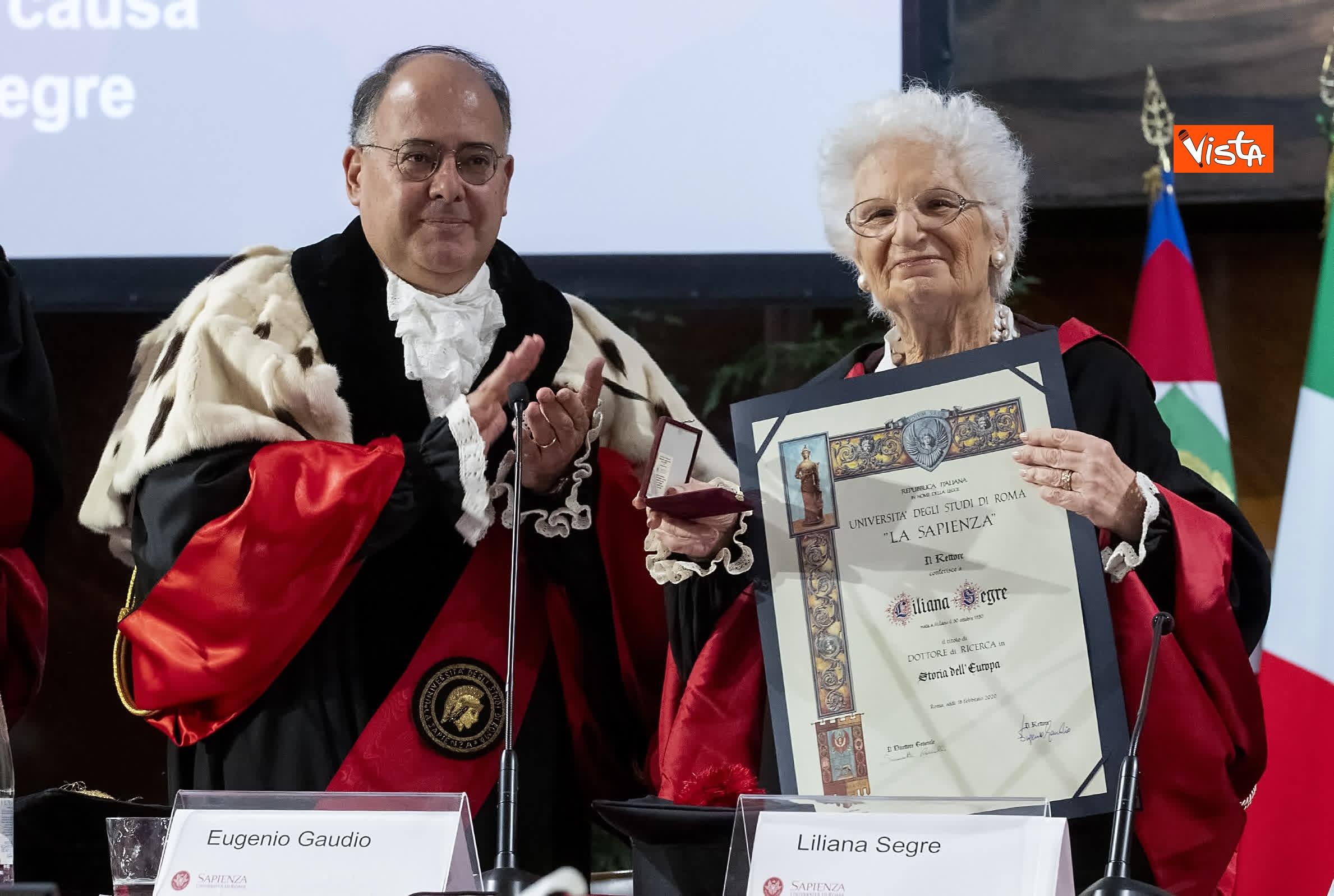 17-02-20 Segre riceve laurea honoris causa dal rettore della Sapienza Gaudio_06