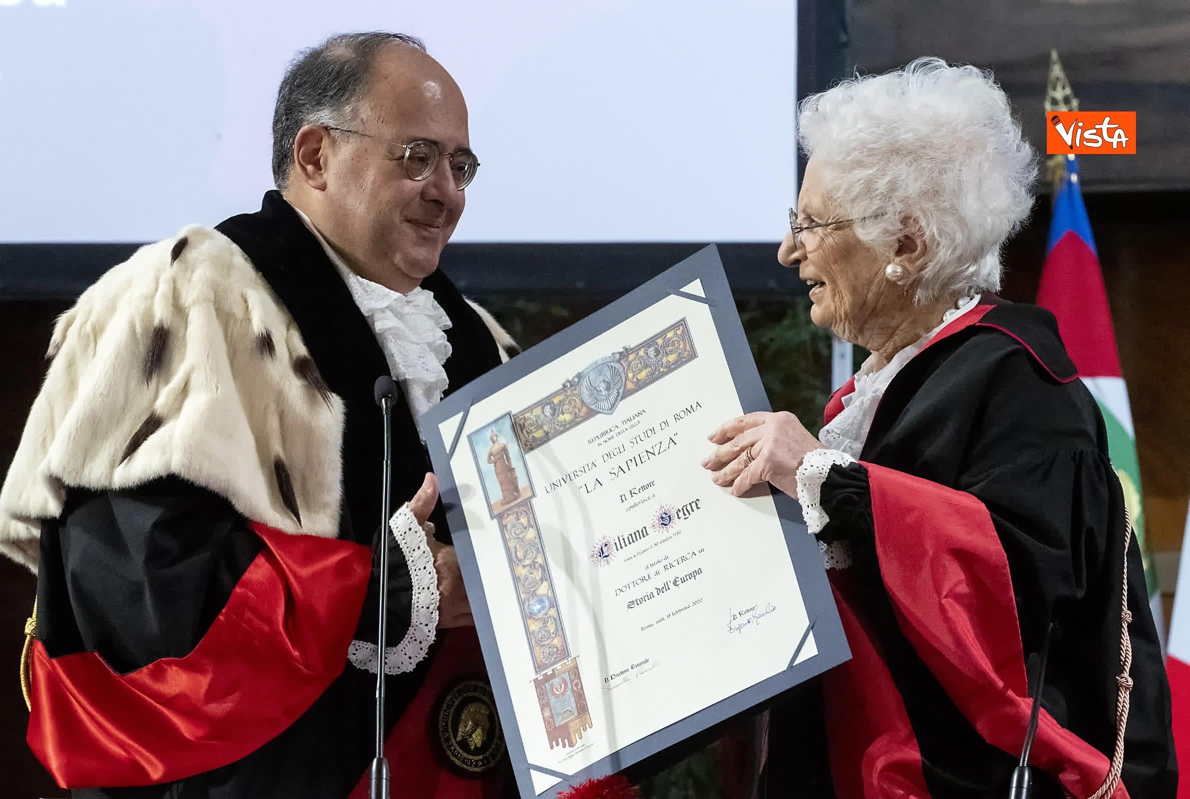 17-02-20 Segre riceve laurea honoris causa dal rettore della Sapienza Gaudio_05