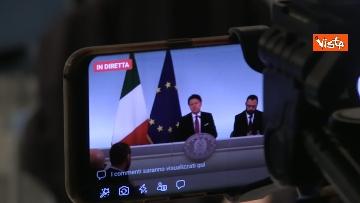 7 - Ilva, Conte e Patuanelli in conferenza stampa a Palazzo Chigi