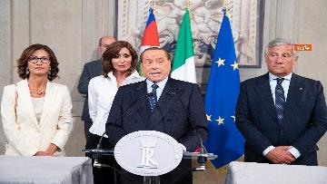 3 - Mattarella accoglie la delegazione di FI guidata da Berlusconi
